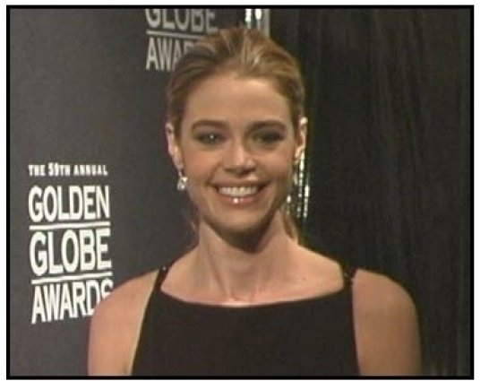 """Golden Globes 2002"" Interview Video Still: Denise Richards"
