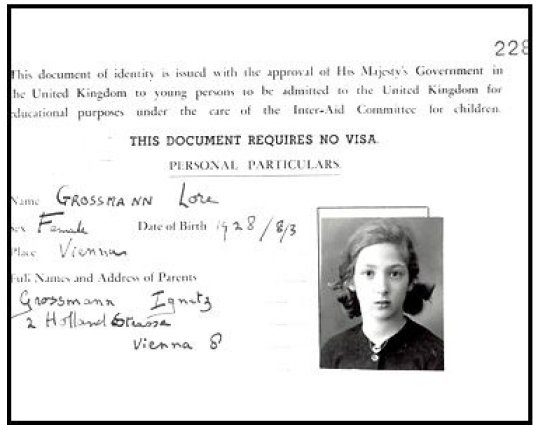 Into the Arms of Strangers: Stories of the Kindertransport movie still: Identification Document