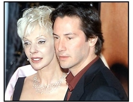 Keanu Reeves and his mother at the Sweet November premiere
