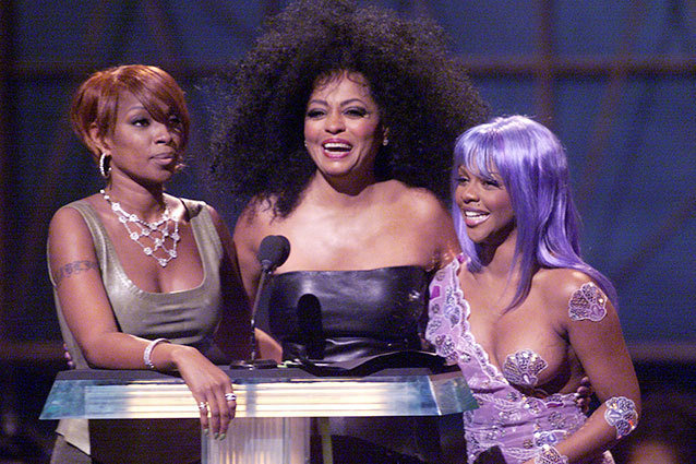 Mary J. Blige, Lil' Kim, and Diana Ross